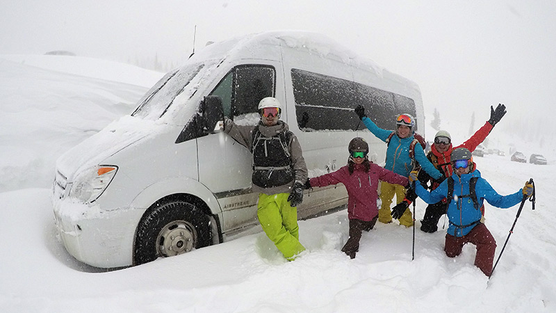 Spring 2017 - Powder Chase with our adventure van
