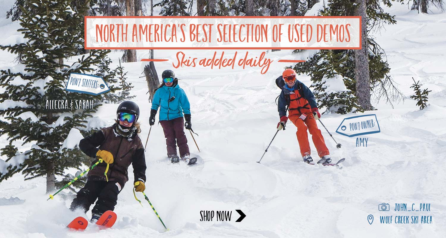 New demo skis listed daily!