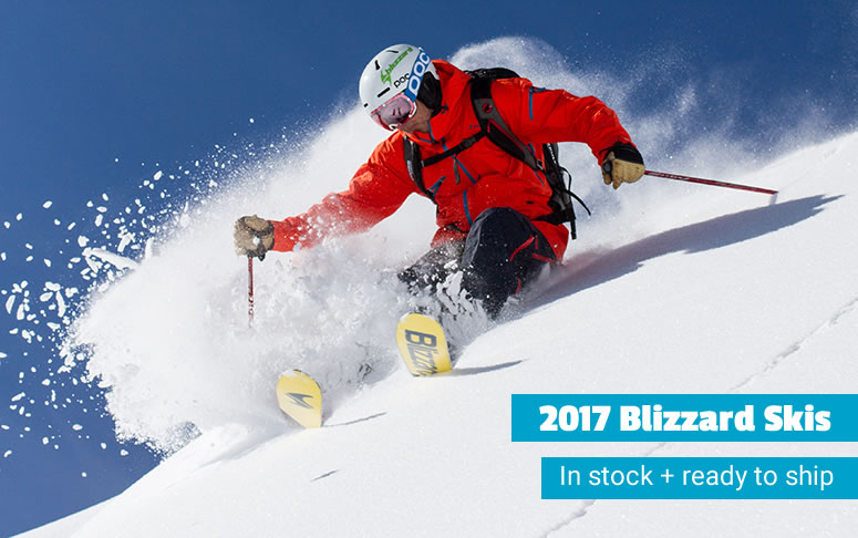 2017 Blizzard skis in stock and ready to ship.
