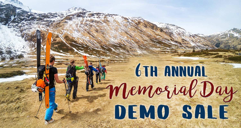 Memorial Day Demo Ski Sale Ends Tuesday!