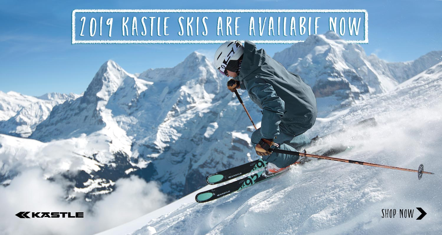 Shop Now: 2019 Kastle skis.
