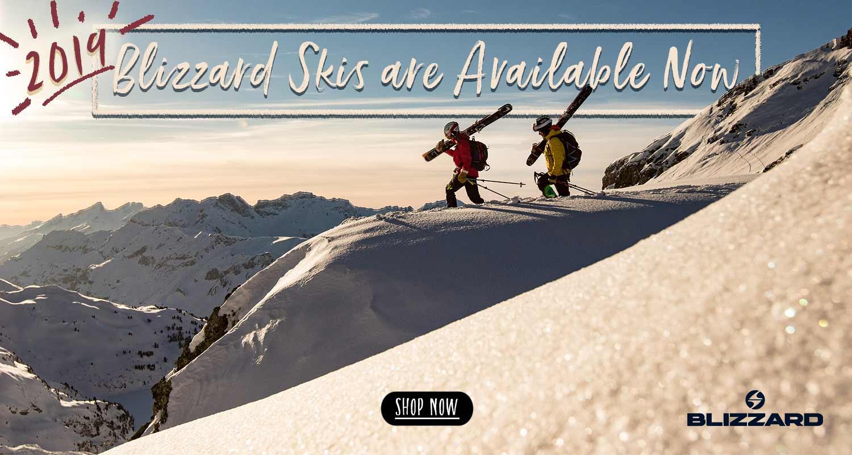 Shop Now: 2019 Blizzard skis!