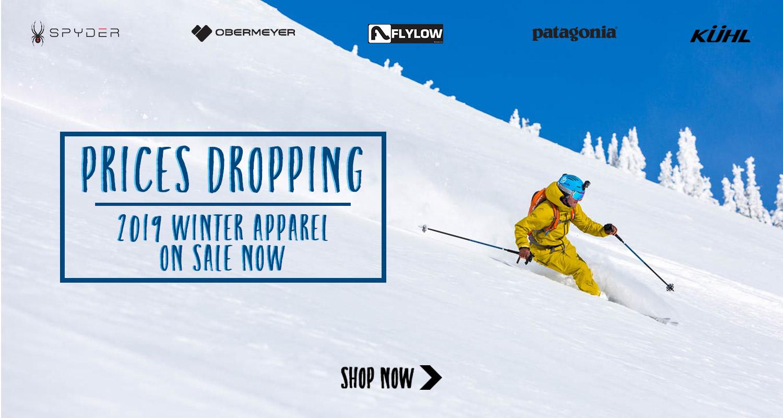 Current season ski apparel on sale now!