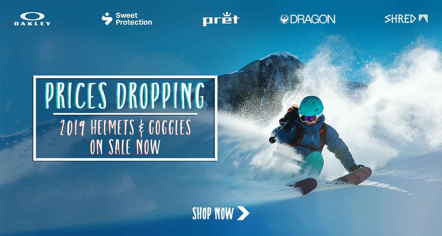 Current season ski helmets and goggles on sale now!