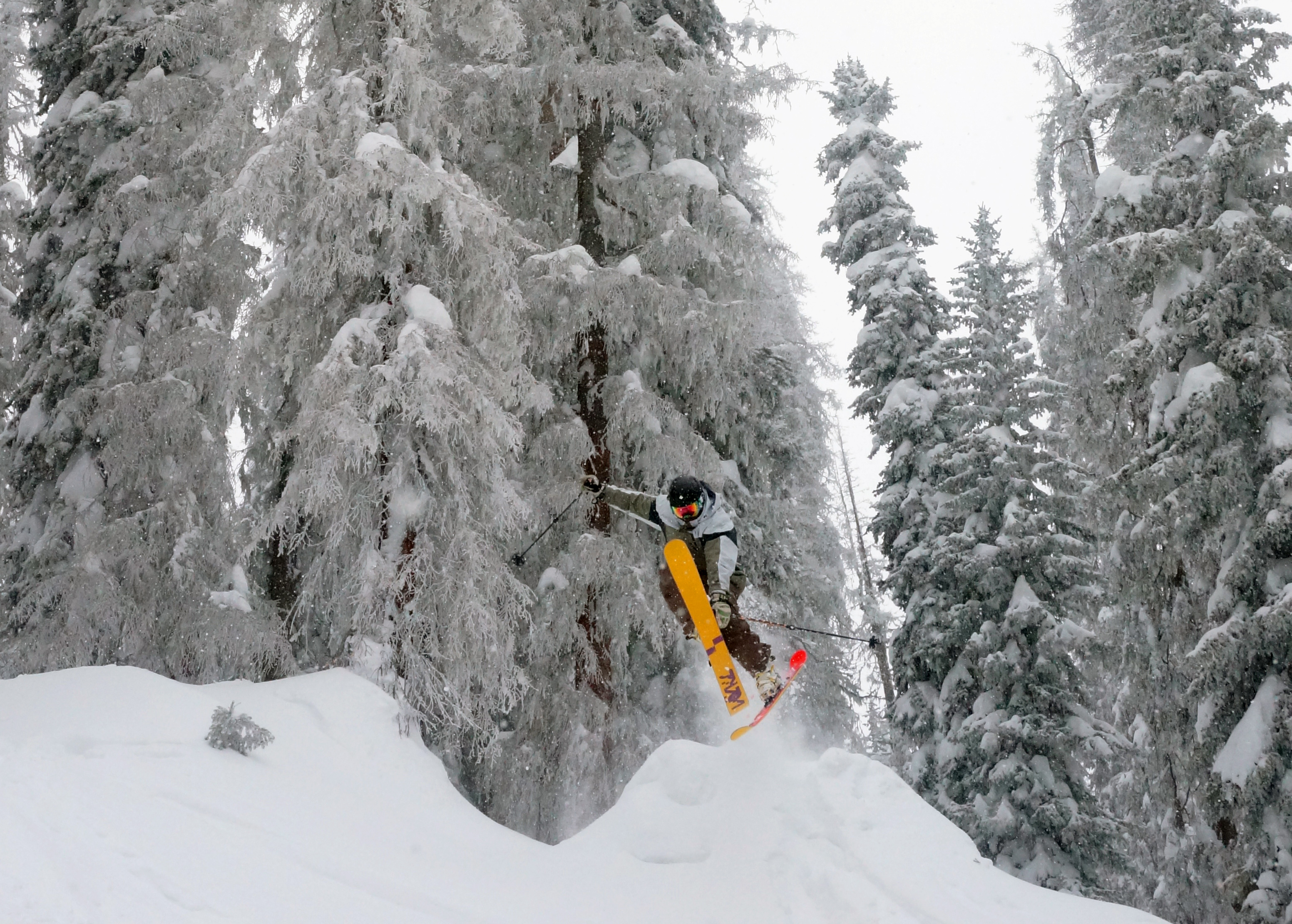 Defying Death to Ski a Shocking 100″ Storm at Wolf Creek