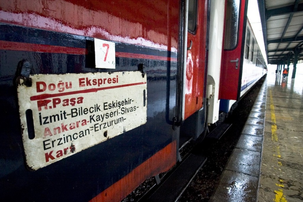 The Dogu Express train, which goes all across Turkey from Istanbul to Kars, next to The Armenia border
