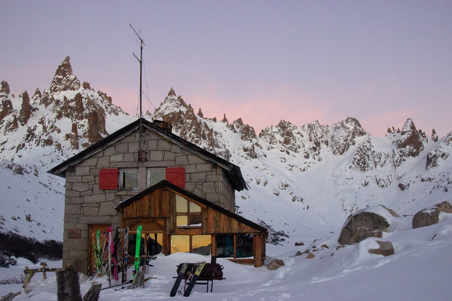 backcountry skiing patagonia