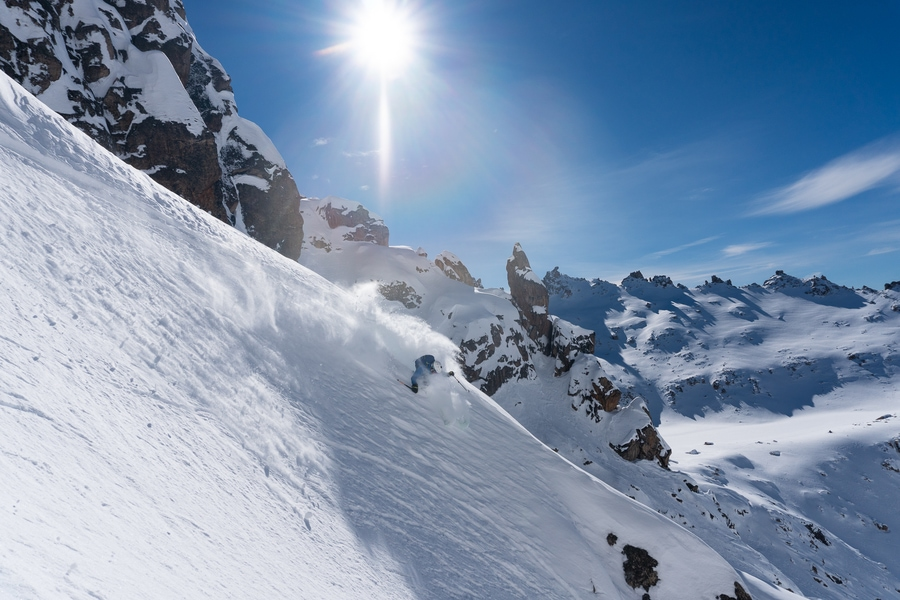 backcountry skiing in patagonia