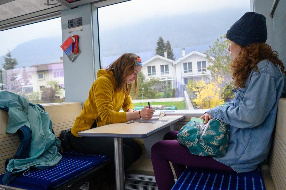 ski europe by train