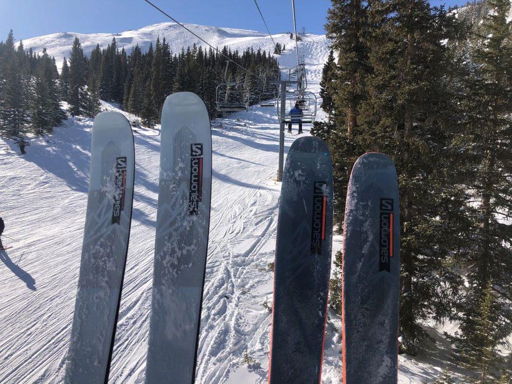 2022 salomon qst 98 and qst blank skis