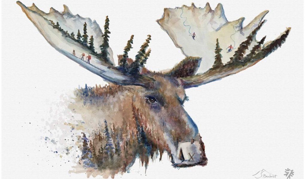 powder7 moose tracks print