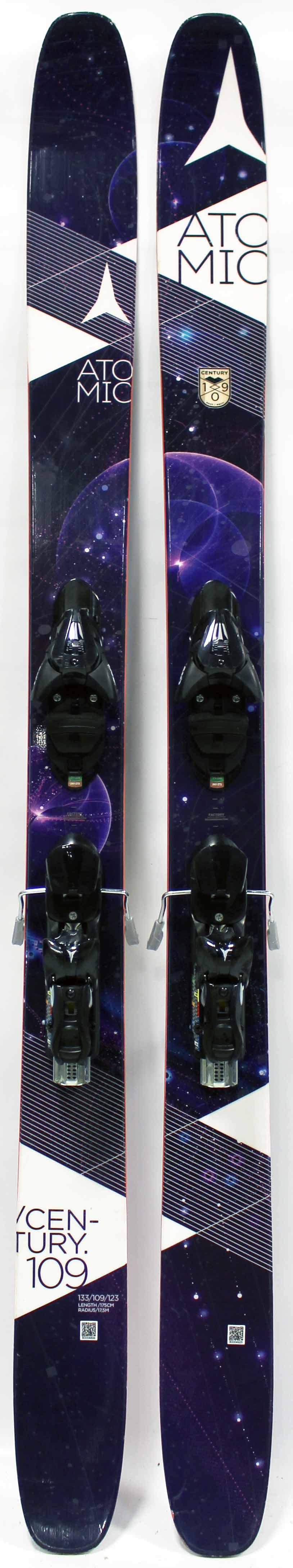 2016 Atomic Century 109 Used Demo 175cm Skis And Bindings