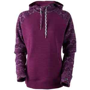 Gracey Hooded Fleece Pullover Pinot Snowflake Extra Small