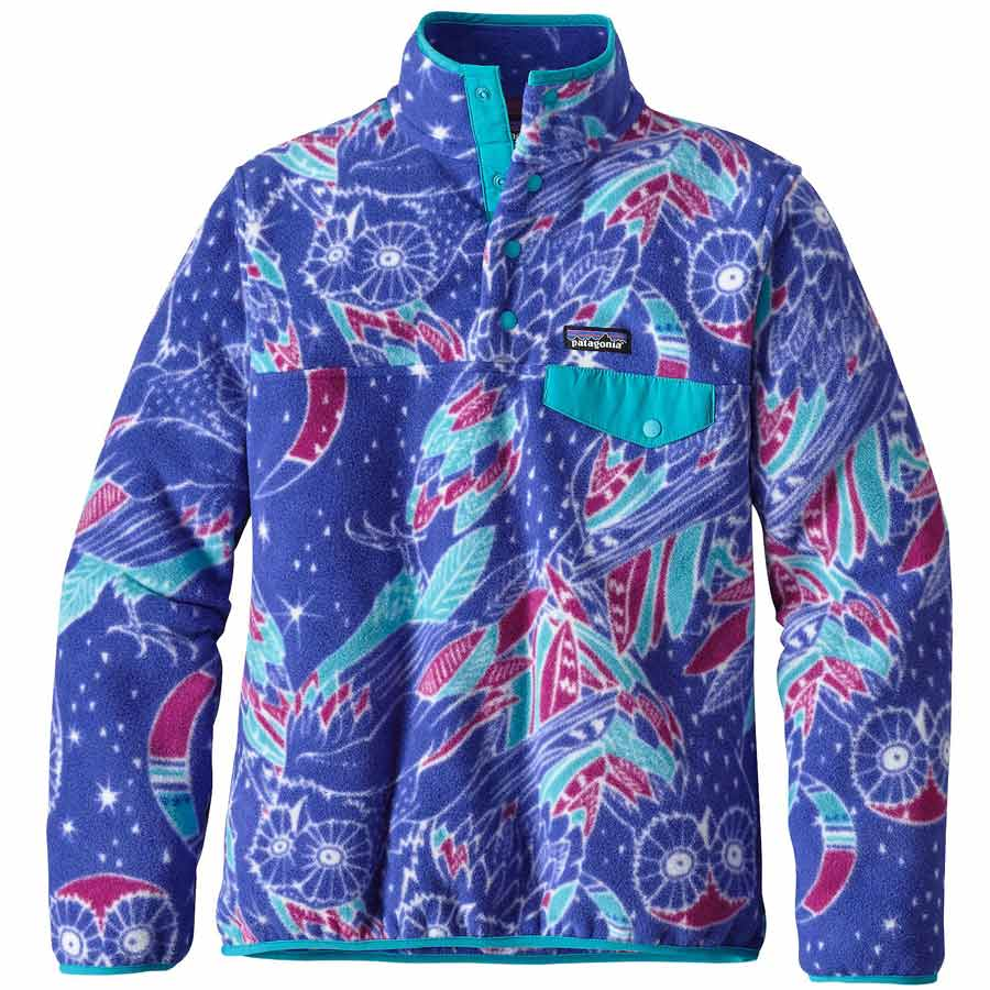 Patagonia Women's Lightweight Synchilla Snap T Pullover Jacket On ...