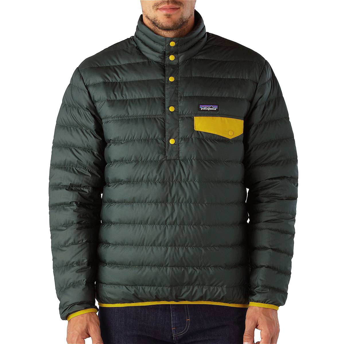 Patagonia Men 39 S Down Snap T Pullover Jacket On Sale