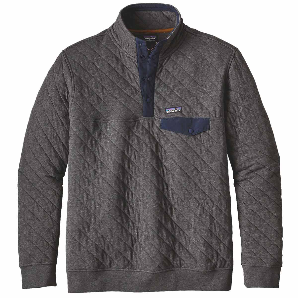 Patagonia Men S Cotton Quilt Snap T Pullover Jacket On