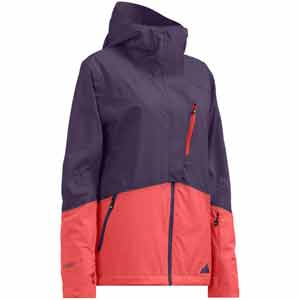 Cloud Nine Ski Jacket Indigo/Hot Coral Extra Small