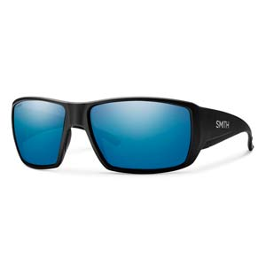 Guides Choice Matte Black with Polarized Blue Mirror Lens