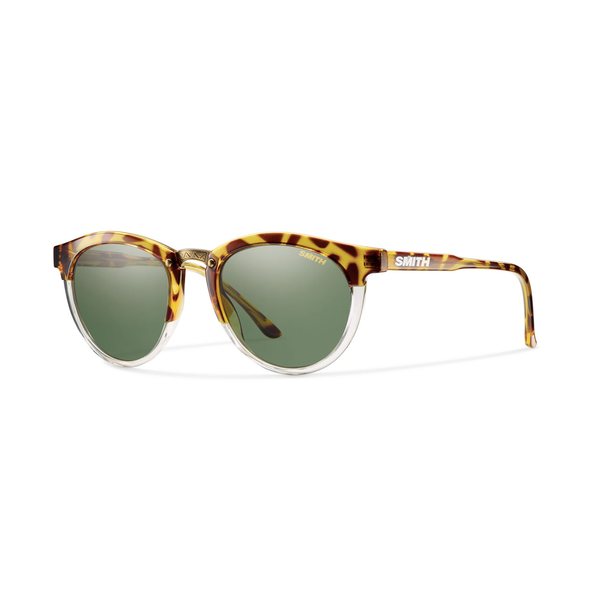 Amber Tortoise with Polarized Gray Green Lens