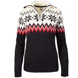 Myking Feminine Sweater Black/Raspberry/Off White Small
