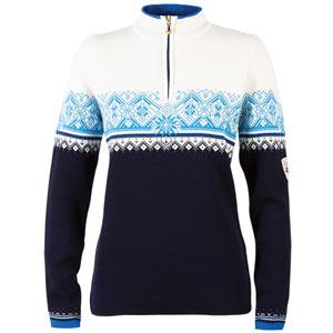 St. Moritz Feminine Sweater Marine/Cobalt/Off White/Sochi Blue Large
