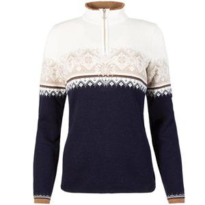 St. Moritz Feminine Sweater Navy/Beige Medium