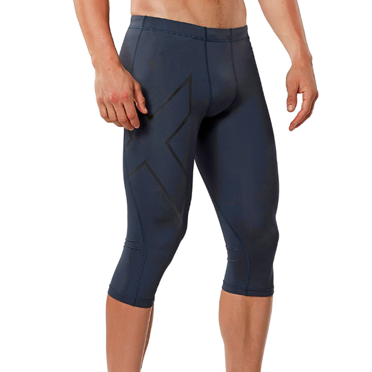 e1107ff3abe90 2XU Men's Hyoptik Compression 3/4 Tights Baselayer on Sale | Powder7.com