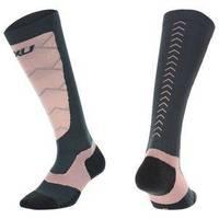 Elite Compression Alpine Socks Titanium/Desert Coral S