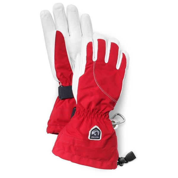 Womens Heli Glove Red/Off White 9