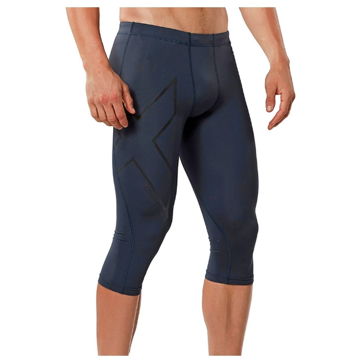 b972ad48e7772 2XU Men's Hyoptik Compression Three Quarter Tights Baselayer on Sale ...