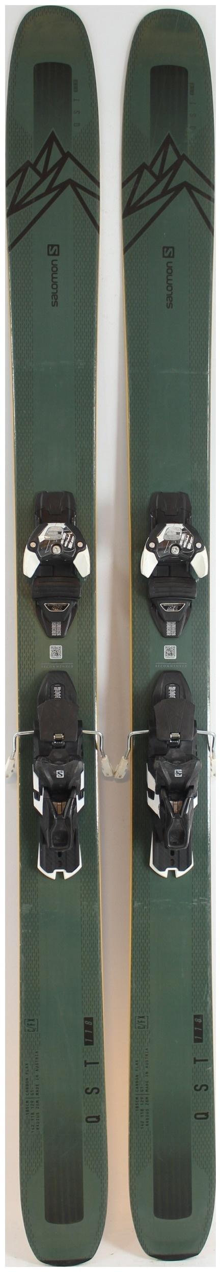 2019, Salomon, QST 92 Skis with Salomon Warden MNC 13 Demo Bindings Used Demo Skis 185cm