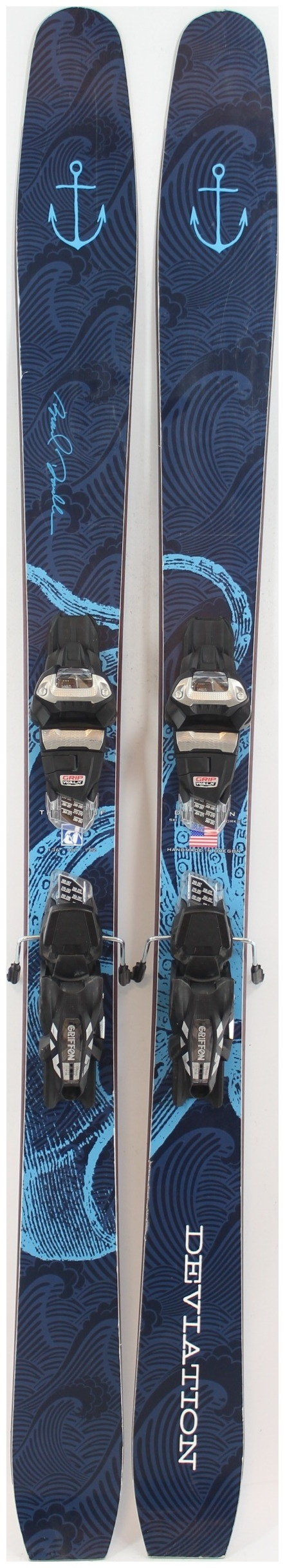 2019 Deviation The Proof Skis With Marker Griffon Demo Bindings Used Demo Skis 168cm