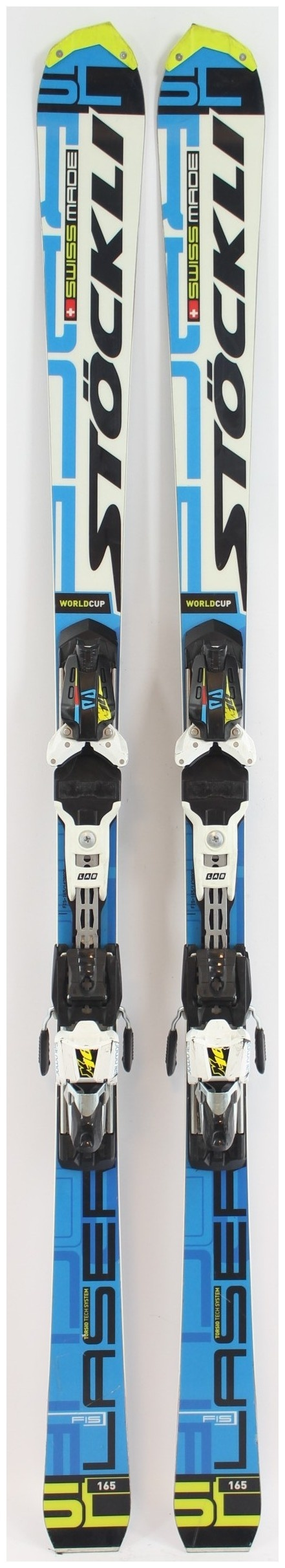 190 Stockli Laser SX FIS 2015 Race Skis with Salomon X16 Lab Bindings