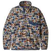 Lightweight Synchilla Snap T Pullover Protected Peaks Multi Big: Oatmeal Heather Small