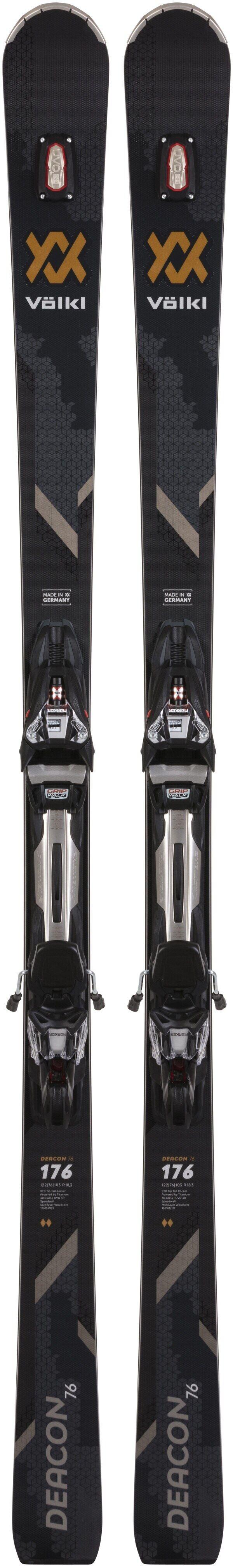 2021 Volkl Deacon 76 Skis w// rMotion2 12 GW Bindings