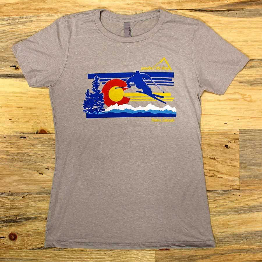 Powder7 Women S Colorado Flag Tee Shirt On Sale Powder7 Com