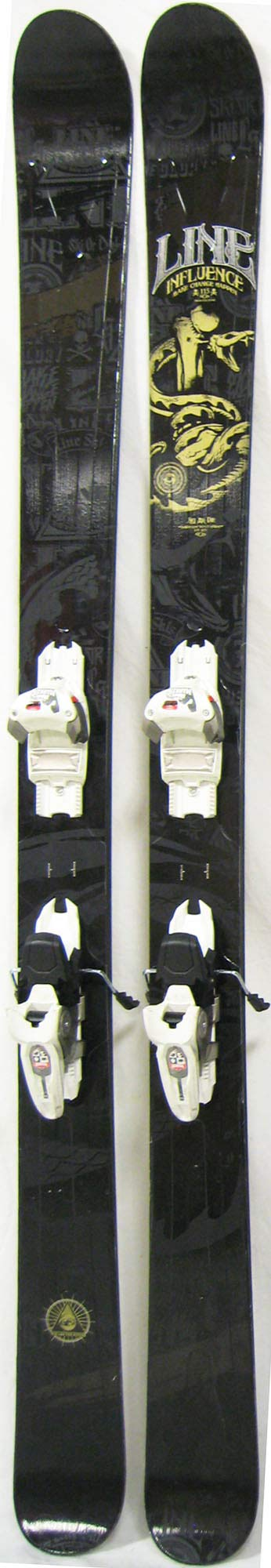 Topsheets of 2012 Line Influence 115 Skis For Sale