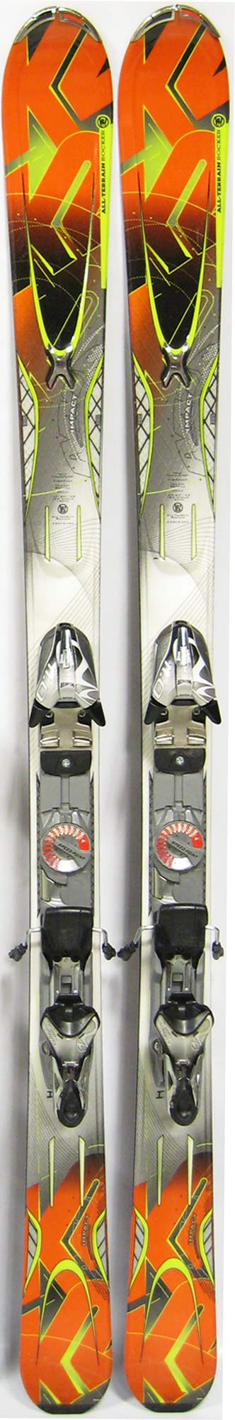 Topsheets of 2012 K2 Amp Impact Skis For Sale
