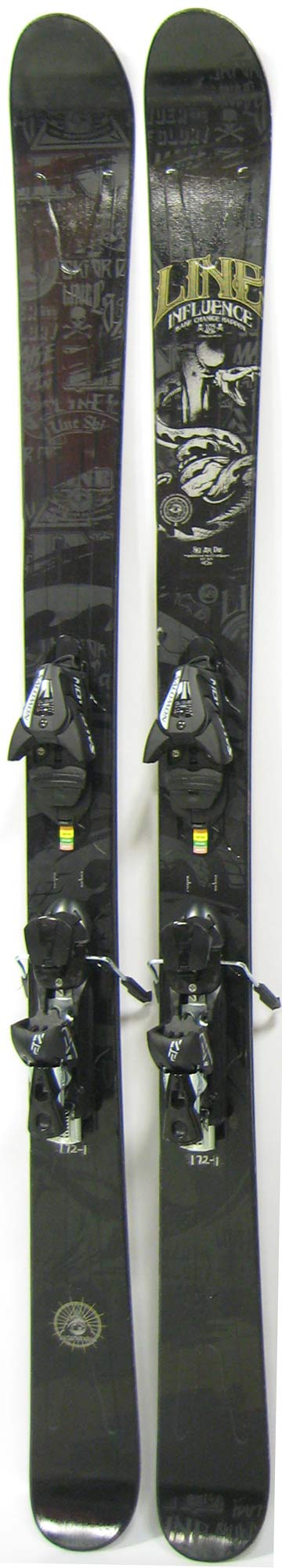 Topsheets of 2012 Line Influence 105 Skis For Sale