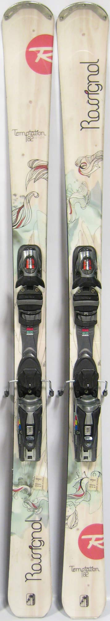 Topsheets of 2012 Rossignol Temptation 82 Skis For Sale