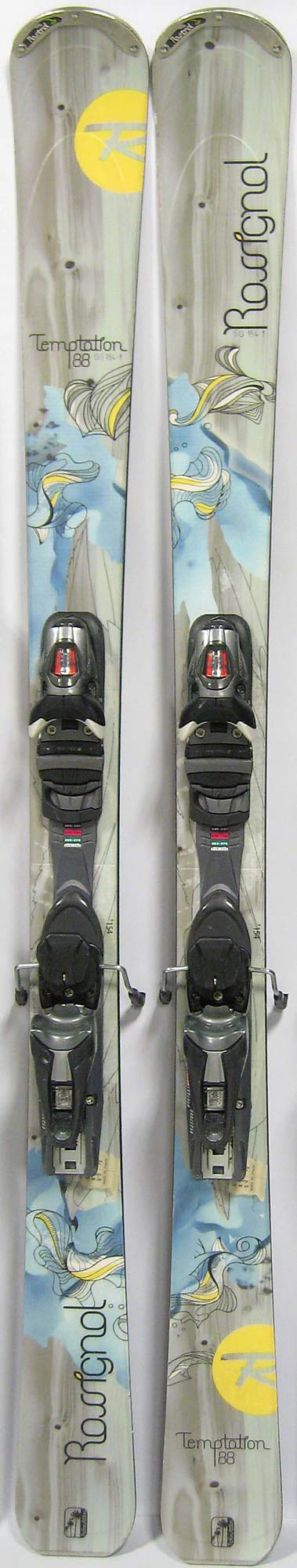 Topsheets of 2012 Rossignol Temptation 88 Skis For Sale