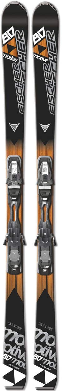 Topsheets of 2011 Fischer Motive 80 Skis For Sale