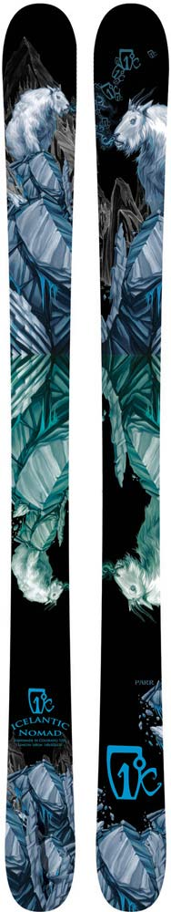 Topsheets of 2012 Icelantic Nomad Skis For Sale