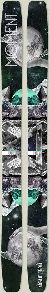 Topsheets of 2012 Moment Night Train Skis For Sale