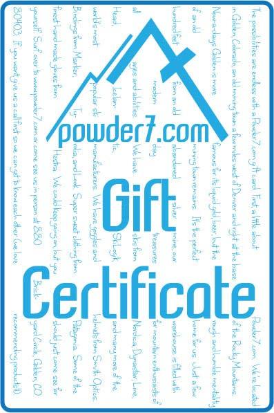 2012 Powder7 Gift Certificate 500