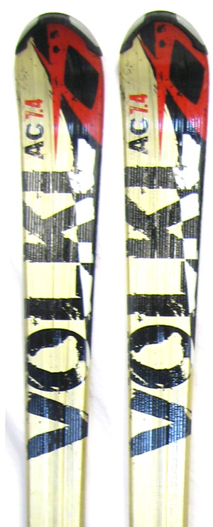 2010 Volkl AC 7.4 Unlimited Skis in 128cm For Sale